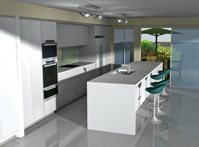 Kitchen design i shape india for small space layout white for Good kitchen layout